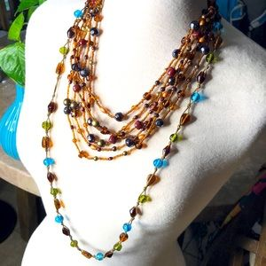 2 glass bead necklace